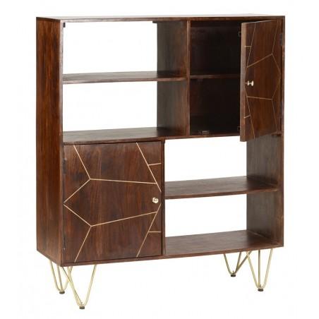 Tanda Dark Gold Display Cabinet, open door detail