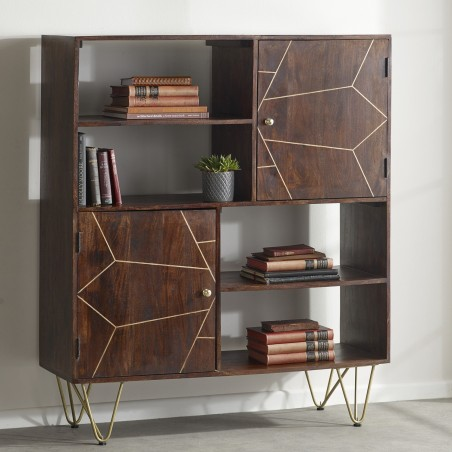 Tanda Dark Gold Display Cabinet, room shot