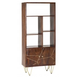 Tanda Dark Gold Large Bookcase, angle view