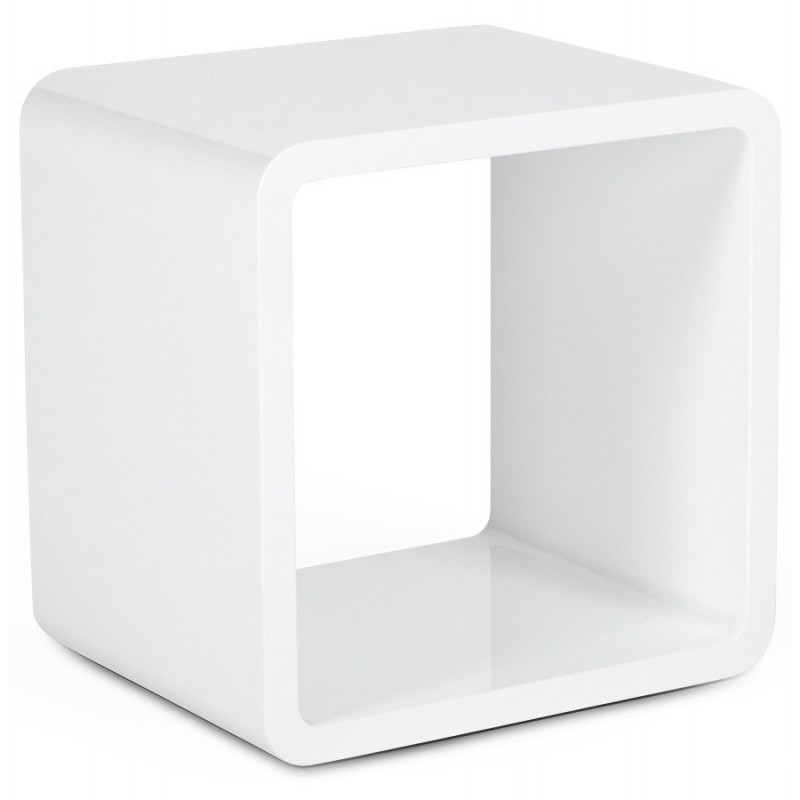 Cubo Square Side Table White