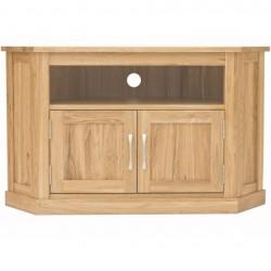 Teramo oak corner television cabinet close up
