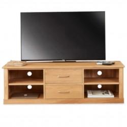 Teramo Oak Two Drawer Mounted TV Cabinet