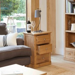 Teramo Oak Three Drawer Side Table