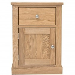 Teramo One Drawer Oak Lamp Table With Cupboard