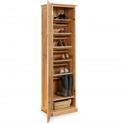 Teramo Tall Oak Shoe Cupboard