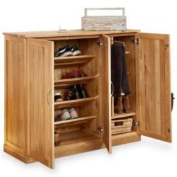 Teramo Large 2 Cupboard Oak Shoe Storage Cupboard open