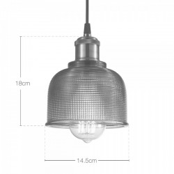Tulip Glass Pendant Lamp Dimensions