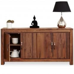 Panaro Large Two Cupboard Low Walnut Sideboard mood