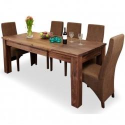 Panaro Extending 8 Seat Walnut Dining Table. White Background.