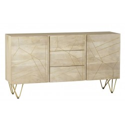 Tanda Light Gold Extra Large Sideboard, angle view