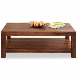 Panaro One Shelf Walnut Coffee Table. White Background.