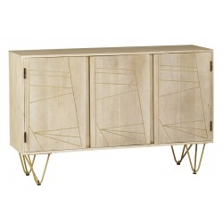 Tanda Light Gold Large Sideboard, angle view