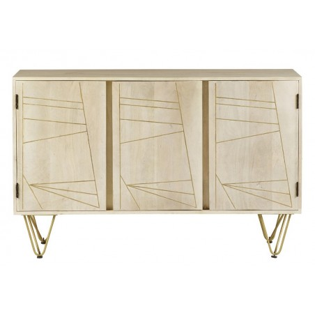 Tanda Light Gold Large Sideboard, front view