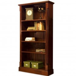 Forenza Five Tier Open Mahogany Bookcase