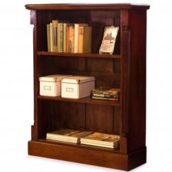 Forenza Low Three Tier Mahogany Bookcase