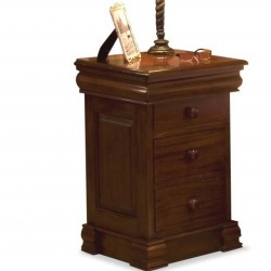 Forenza Mahogany Side Table with Hidden Jewellery Drawer. White Background.