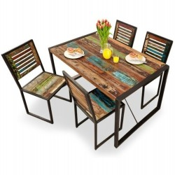 Akola Reclaimed Wood Dining Table Small White background