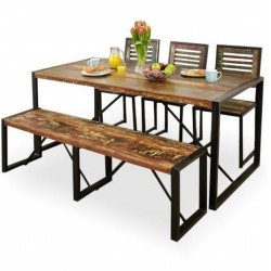 Akola Large Reclaimed Wood Dining Table