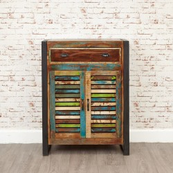 Akola Four Shelf Salvaged Timber Shoe Cupboard