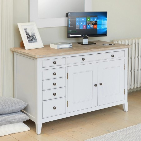 Ludo Hidden Home Office Desk Angled View