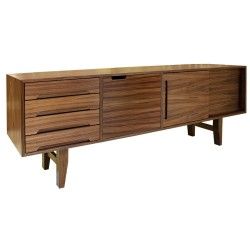 Yorkley Walnut Sideboard Angle View