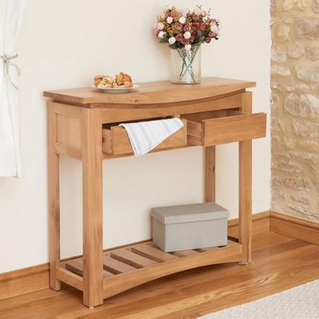 modern oak hallway table