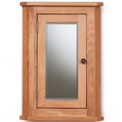 Teramo Bathroom Oak Corner Wall Cabinet