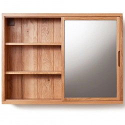 Teramo Bathroom Oak Mirrored Wall Cabinet
