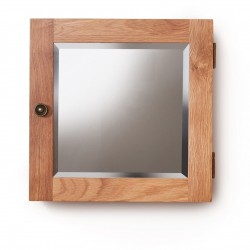 Teramo Bathroom Oak Mirrored Door Wall Cabinet - Single