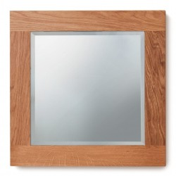 Teramo Bathroom Oak Wall Mirror - Small