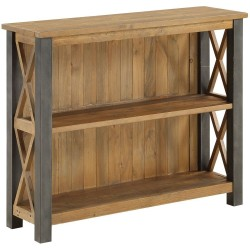 Urban Elegance  Reclaimed Low Bookcase