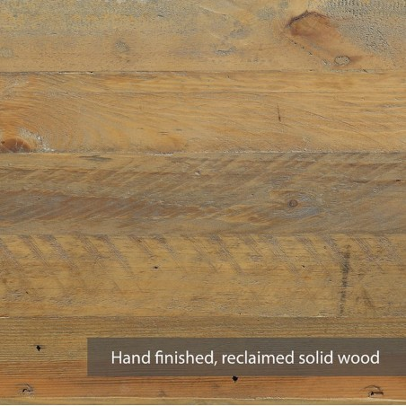 Urban Elegance  Reclaimed  bookcase Wood detail