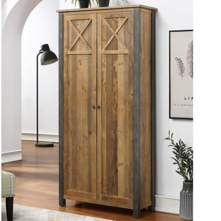 Urban Elegance Reclaimed Storage Cabinet Shut