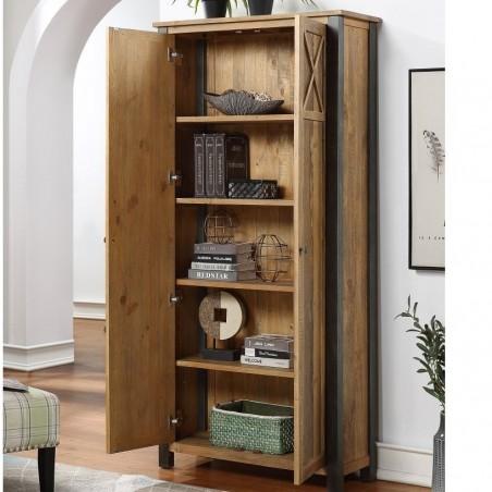 Urban Elegance Reclaimed Storage Cabinet Open