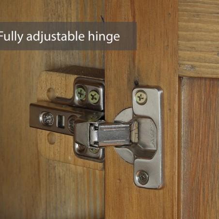 Reclaimed Storage Cabinet Hinge Detail
