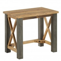 Urban Elegance Reclaimed   Side / Lamp Table