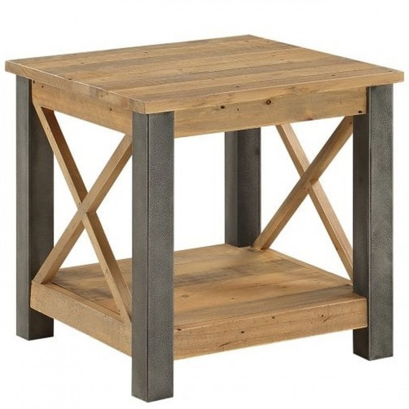 An image of Urban Elegance Reclaimed Lamp Table
