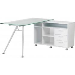 Harlow Glass Office Workstation Desk