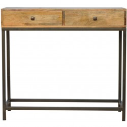 Alverton Industrial Style Console Table Front View