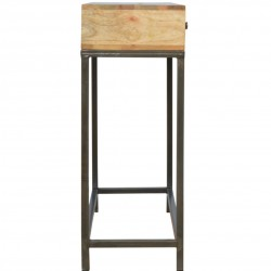 Alverton Industrial Style Console Table Side View
