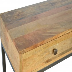 Alverton Industrial Style Console Table Top Detail