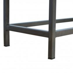 Alverton Industrial Style Console Table Leg Detail