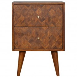 Assanti Chestnut Bedside Bedside Unit - Front View