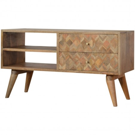 Assanti Two Drawer Media Unit - Angled View