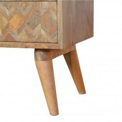 Assanti Two Drawer Media Unit - Oak Leg Detail