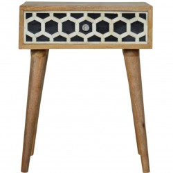 Kuru Bone Inlay Bedside Table