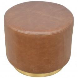 Nava Buffalo Leather Occasional Stool