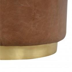Nava Buffalo Leather Occasional Stool - Base Detail
