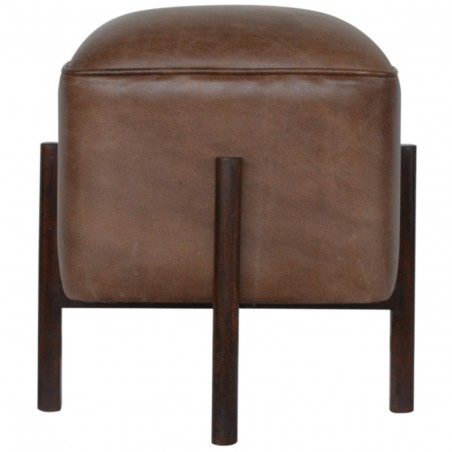 Orlando Leather Occasional Stool - Front View
