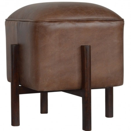Orlando Leather Occasional Stool - Angled View